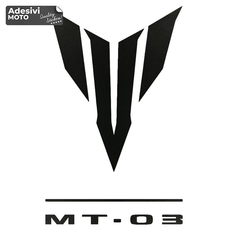 """Adesivo Logo + """"MT-03"""" Tipo 3 Serbatoio-Codone-Fiancate-Parafango-Casco"""