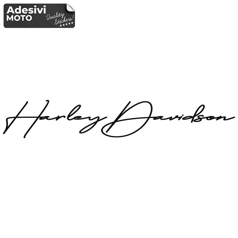 "Adesivo Firma ""Harley Davidson"" Serbatoio-Parafango-Casco-Cupolino"