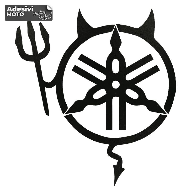 Adesivo Diavolo Logo Yamaha Serbatoio-Casco-Vasca-Codone-Parafango-Fiancate