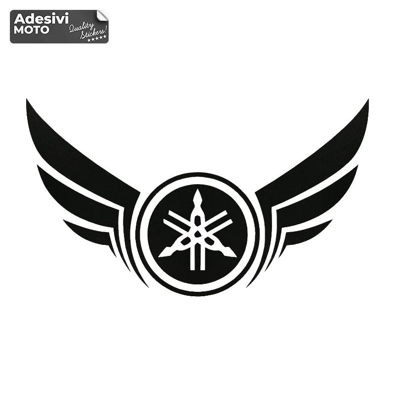 Adesivo Logo Yamaha con le Ali Serbatoio-Casco-Vasca-Codone-Parafango-Fiancate - Yamaha