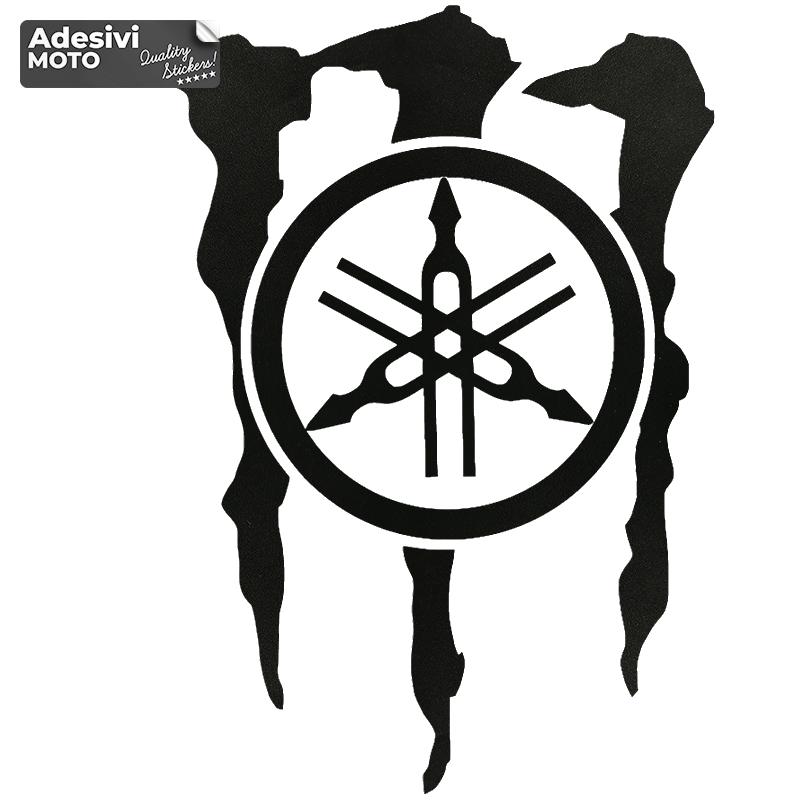 Adesivo Logo Yamaha + Logo Monster Serbatoio-Vasca-Codone-Casco