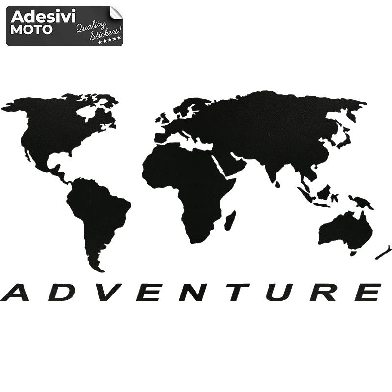 "Adesivo BMW ""GS Adventure"" + Mappamondo Serbatoio-Fiancate-Casco-Cupolino"