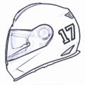 Stickers Helmet