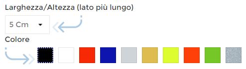 Scelta misura e colore